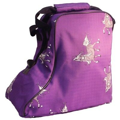 Bambino Jodhpur Boot Carry Bag - Purple Ripstop with Pony / Horse Print