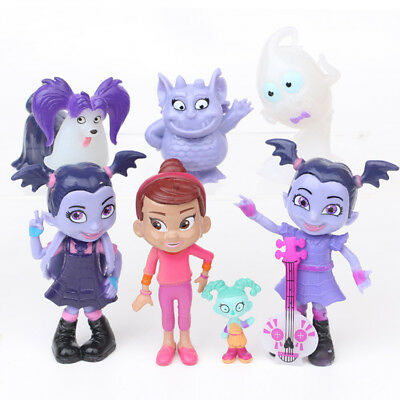 New Vampirina Hauntley Disney Playset 7 Figure Cake Topper Toy Doll Set