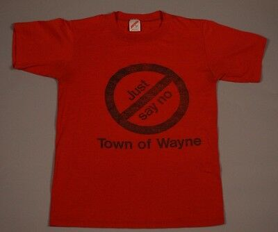 VTG Just Say No To Drugs shirt vintage 80s RED THIN