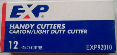 12 Sturdy BOX-CARTON CUTTERS  Made in USA Compact Utility Retractable Knives