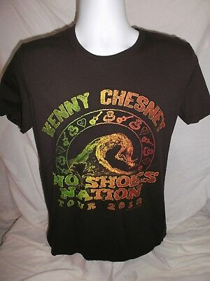Kenny Chesney No Shoes Nation Tour 2013 Brown Concert T-Shirt - Size Medium