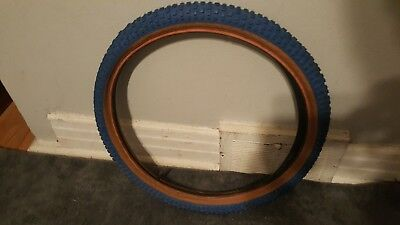 NOS OLD SCHOOL BMX MITSUBOSHI COMP III RAINBOW LABEL CRUISER TIRE 24X2.125