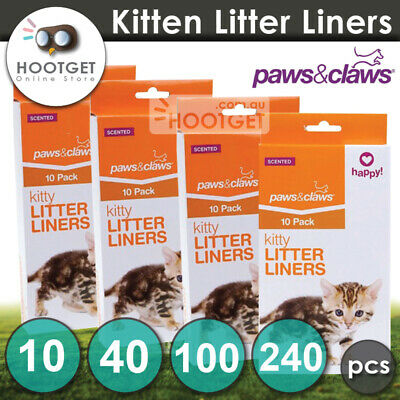 [10 40 100 240pcs] Cat Kitty Litter Liners Scented Bags Waste Dispose Poo Poop