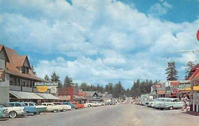 Big Bear Lake California business area McNeal's Trading Post vintage pc Z46070