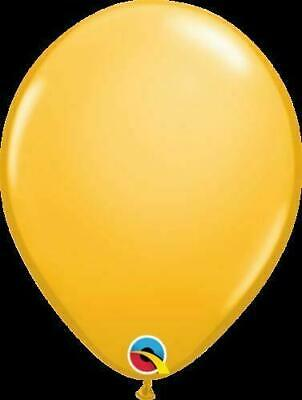 Qualatex 11 inch Solid Colour Latex Balloons Helium/Air - GOLDEN ROD