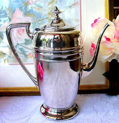 Art Deco Victorian Plate Silverplate Coffee Pot / Tea Pot Circa 1930s Toronto
