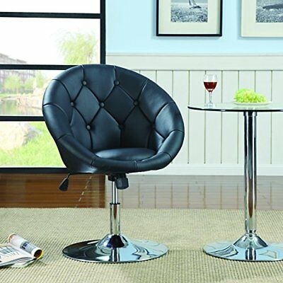 Surprising Coaster 102580 Round Back Swivel Chair Black 126 68 Caraccident5 Cool Chair Designs And Ideas Caraccident5Info