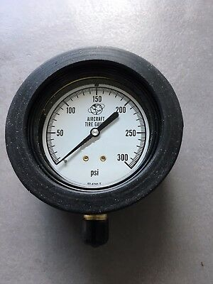 0-300 PSI Tire Pressure Gauge with Rubber Boot glycerine filled NEW USA Made