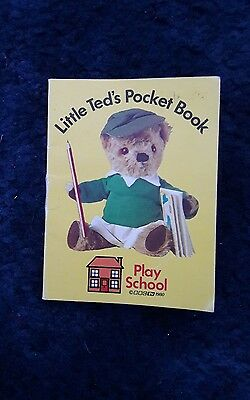 BBC Play School Little Ted Pocket Book vintage 1980