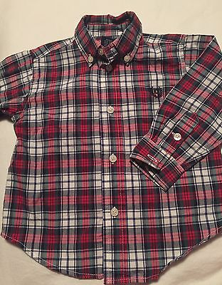 Chaps Ralph Lauren Long Sleeve Button Up Shirt Size 18 Months