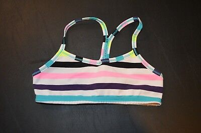 Girls Ivivva Sports Bra Size 10 purple pink lululemon preowned great condition