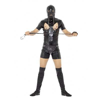 Bondage Gimp Body Nero Cervo Adulto Halloween Divertimento Costume in maschera