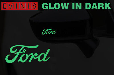 FORD GLOW IN DARK DECALS STICKERS GRAPHICS x2