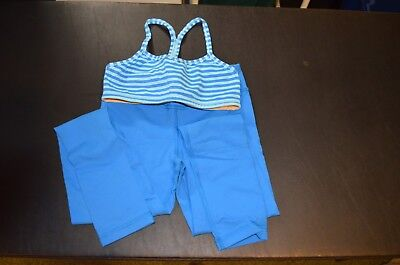 Girls Ivivva Sports Bra and Leggings, Size 6, royal blue, great condition