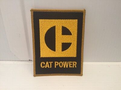 Rare Mint CAT POWER VTG Sew-on Patch - Caterpillar Diesel Power - Free Shipping