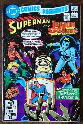 "Bronze age DC comic ""Superman & The Legion of heroes"" issue 43 1982"