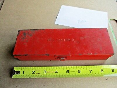 Vintage Bell System D Metal Tool Box - Marked Ttc For Thorsen Tool Co