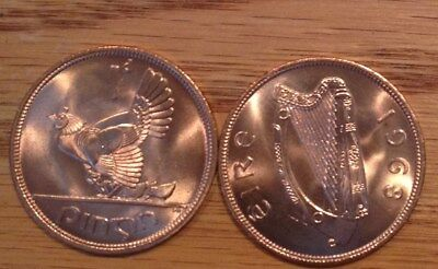 1968 Eire Ireland 1D  Good Luck Penny  Hen And Chicks  Bu Red 1 Coin 9957A