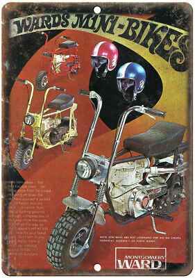 "Montgomery Ward Mini bike Ad 10"" x 7"" Reproduction Metal Sign A391"
