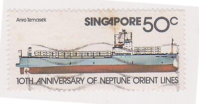 (K65-501) 1978 Singapore lines of shipping (space filler)