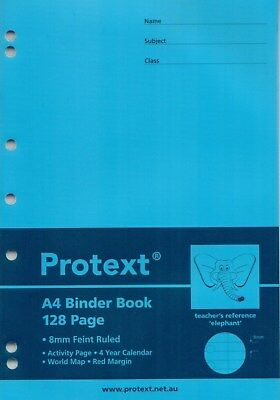 Protext A4 PP Cover Binder Book 128 Page Dark Blue Elephant Reference**NB5043**
