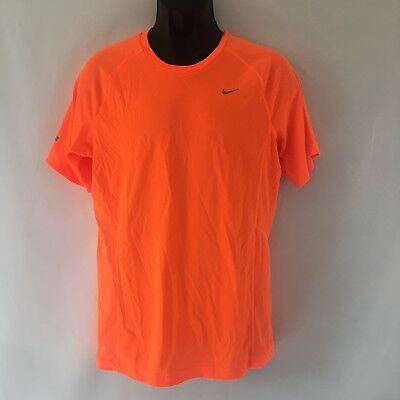 84c4e38f Nike Men's Miler UV Size Small Orange Dri-Fit Running T Shirt 519698 803