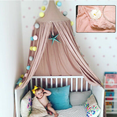 Kids Princess Bedding Round Canopy Bedcover Mosquito Net Curtain Bedding Tent