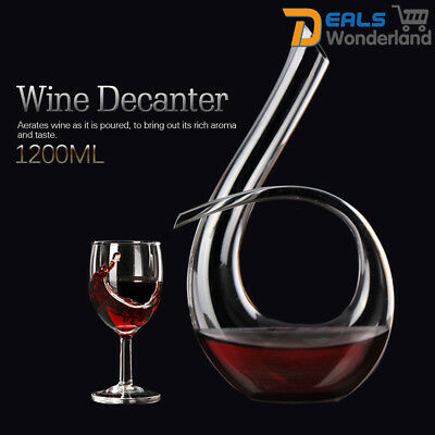 Luxurious Crystal Glass 6 Shape Wine Decanter Wine Pourer Red Wine Carafe 1200ml