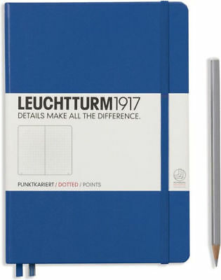 Leuchtturm1917 A5 Medium Hardcover Journal, Dotted, Royal Blue