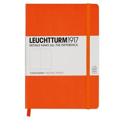 Leuchtturm1917 A5 Medium Hardcover Journal, Dotted, Orange