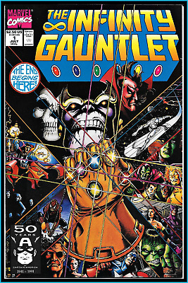 Infinity Gauntlet #1 (1991) Key Starlin Thanos Avengers Infinity War 9.4 Nm Hot!