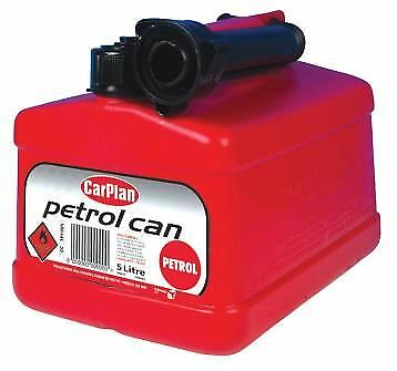 CarPlan Petrol Fuel Jerry Can Tetracan Garage Workshop Plastic Spout Red 5 Litre