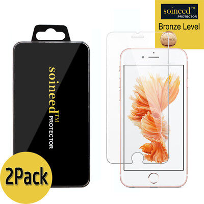 [2-Pack] SOINEED iPhone 6 / 6 Plus Tempered GLASS Screen Protector Bubble Free
