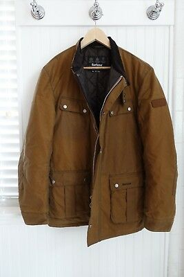 Barbour International Men's Duke Brown Waxed Jacket - Size XL