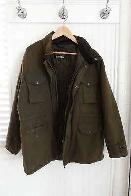 Barbour Men's Sapper Wax Jacket - Size Large