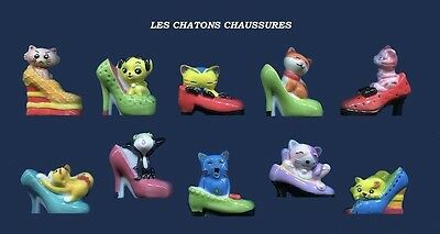 Serie Complete De Feves Les Chatons Chaussures - Les Chats