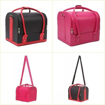 2 in1 Beauty Vanity Case Make up Cosmetic Box Hairdressing Nail Art Storage Bag