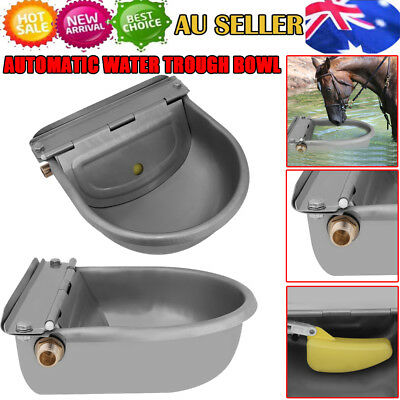 Stainless Water Trough Bowl Automatic Drinking For Dog Horse Chicken Auto Fill