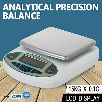Analytical Balance 15000 x 0.1 g  15 kg 33lbs Lab Precision Scale U.S