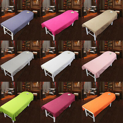 Smooth SPA Massage Table Cover Bed Toweling Couches Sheets With Face Hole