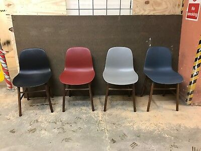 NORMANN COPENHAGEN Used Form Chairs RED/BLUE/BLACK/GREY QTY 17   SEE
