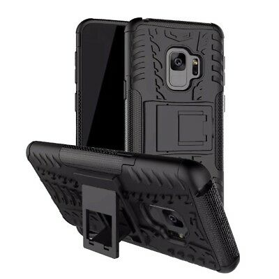 Heavy Duty Gorilla Shock Proof kick Stand Case Cover for Samsung S9 (BLACK)