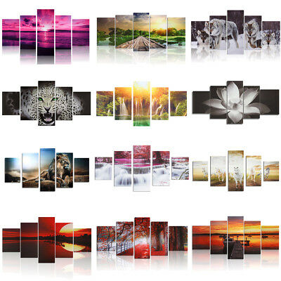 UK Latest Abstract Modern Art Painting Canvas Panel Picture Wall Hanging Decor