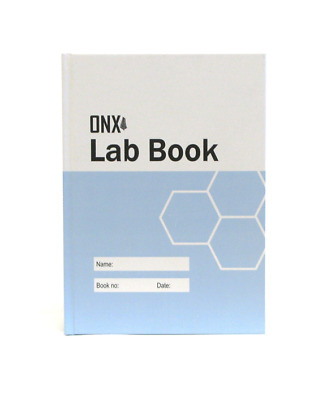 ONX Scientific Lab Book, GLP A4 200 page Laboratory Notebook, Eco-friendly