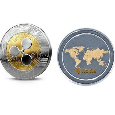 1Pcs Ripple coin XRP CRYPTO Commemorative Ripple XRP Collectors Coin