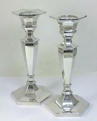 Pair of Vintage hallmarked Silver 17.5cm  Candlesticks – 1974 by Mappin & Webb