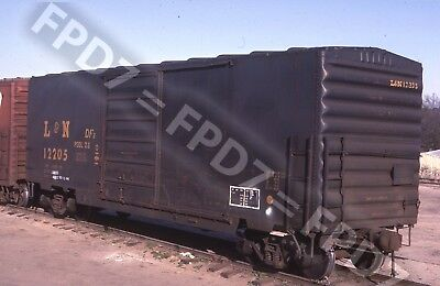 ORIGINAL SLIDE Louisville & Nashville L&N 40' Box Car 12205;3/86