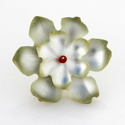 Alexis bittar flower brooch pin silver white with yellow alexis bittar flower brooch pin silver white with yellow chartreuse edging mightylinksfo
