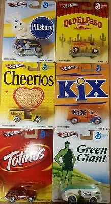 Hot Wheels Pop Culture 2012 General Mills Complete Set