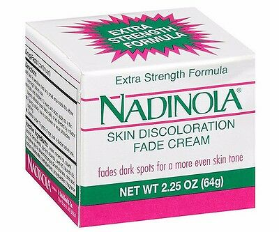 Real! NADINOLA SKIN DISCOLORATION  - EXTRA STRENGTH, 2.25 oz, USA 2 Pack